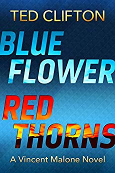 Free: Blue Flower Red Thorns