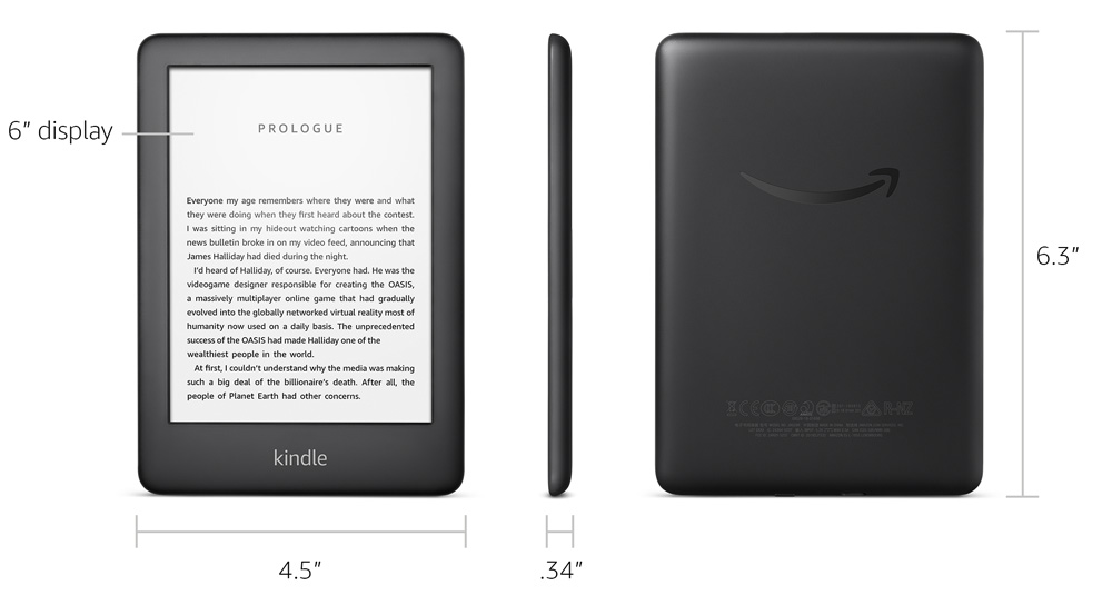 kindle ereader with front light